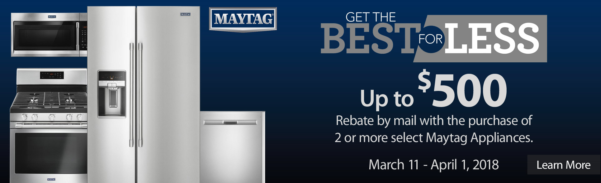 Maytag Best For Less- Save up to $500